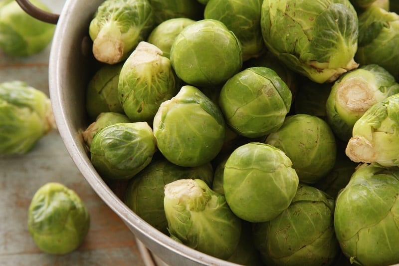 peeled Brussels sprouts