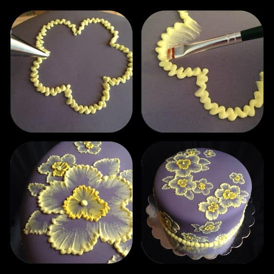 easy ways to airbrush and paintbrush cake decoration