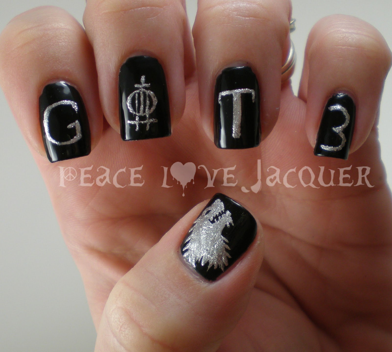 easy ways to do nails-Game of Thrones Season 3 Nail Art
