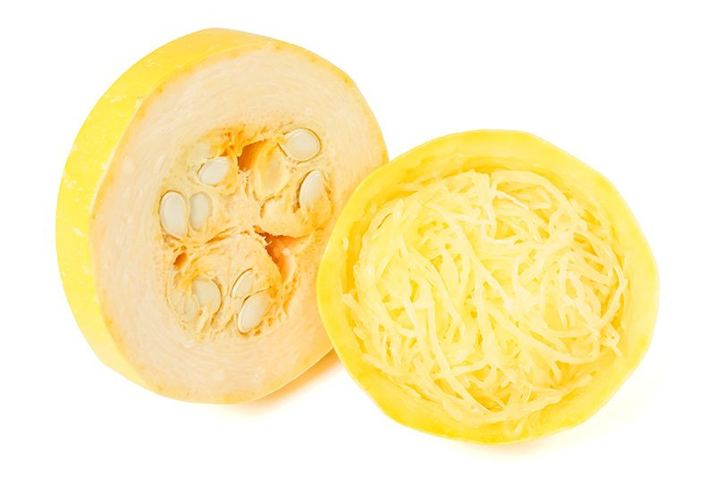 Sliced spaghetti squash rings