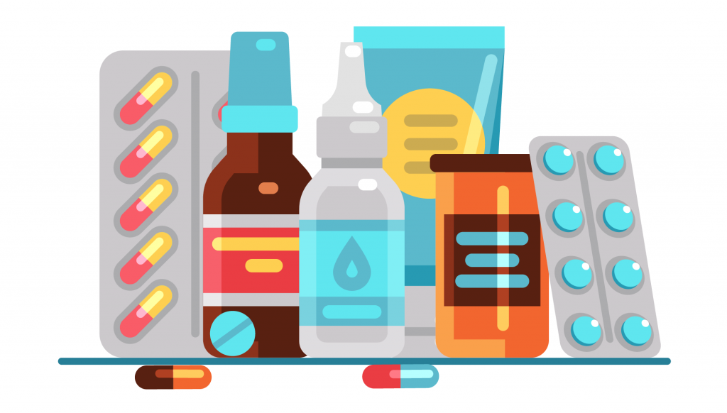 Large supply of medications