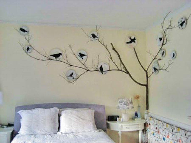 bedroom wall sticker decal cheap and easy ways to spruce up your bedroom ways to. beautiful ideas. Home Design Ideas