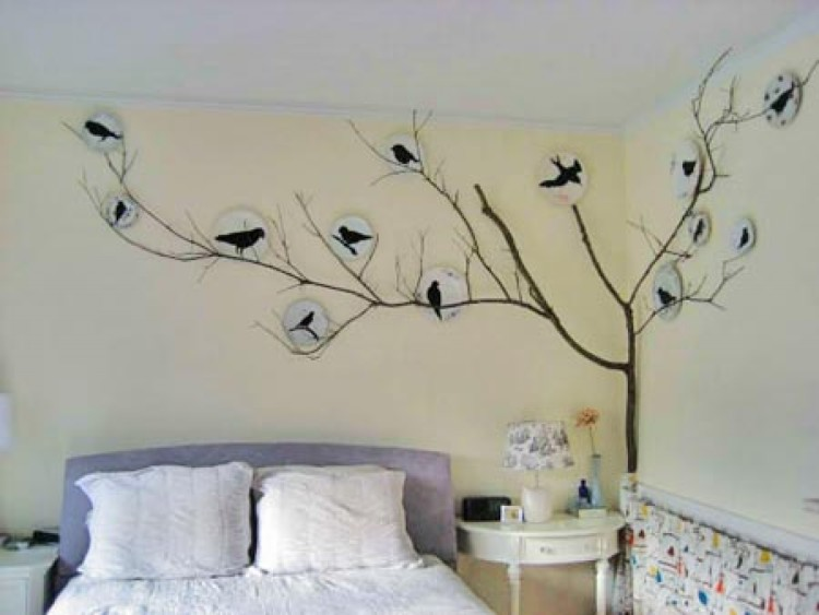 Ways To Decorate Your Walls 10 diy art ideas easy ways to decorate your walls Bedroom Wall Sticker Decal Cheap And Easy Ways To Spruce Up Your Bedroom