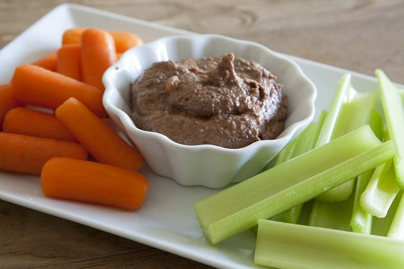 Vegetables and Black Bean Hummus