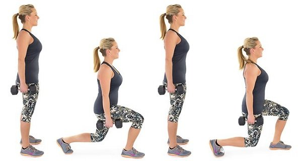 walking lunges can give you thicker thighs