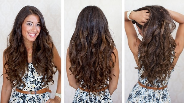 curl hair at home without heat