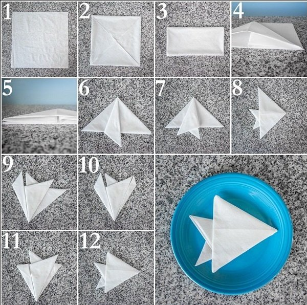 easy step by step napkin folding tutorial