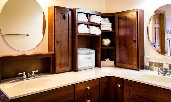 easy ways to add bathroom storage