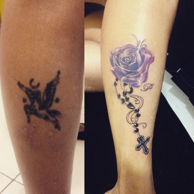 easy ways to cover up tattoos with another tattoo