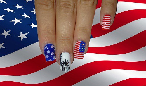 easy ways to decorate nails independence day