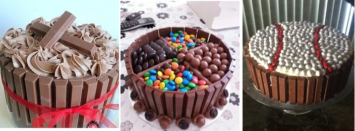 easy ways to decorate a cake using Kitkat
