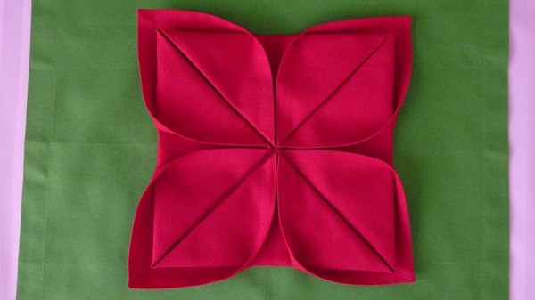 napkin folding step by step