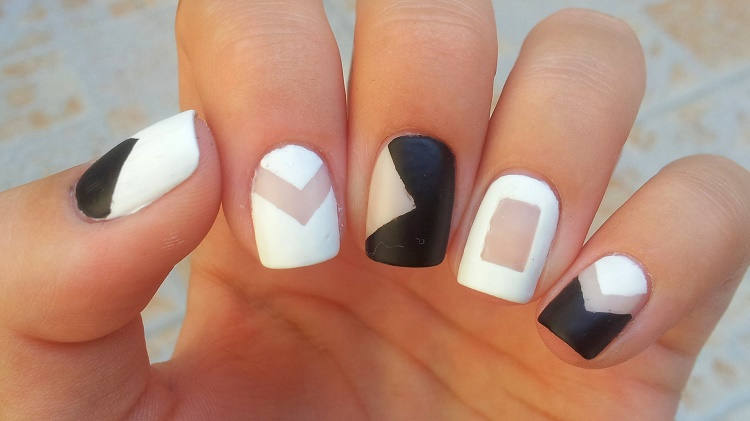 negative space nail art-easy ways to decorate nails