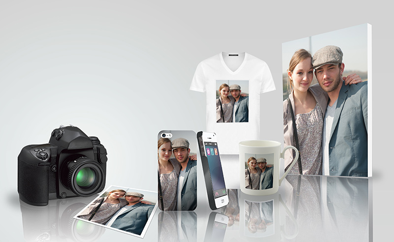 Personalized gifts with photos of couple