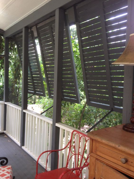 privacy shutters for the porch