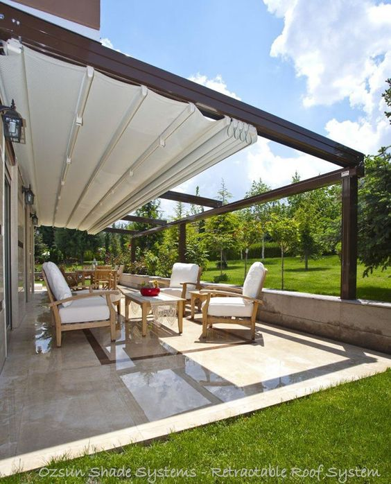 retractable roof for backyard privacy
