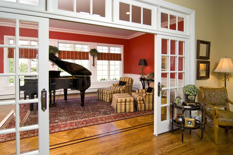 10 easy ways to divide a room into two rooms - Doors to separate kitchen from living room ...