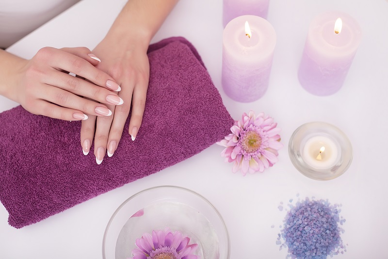 manicure, spa woman's hands nails