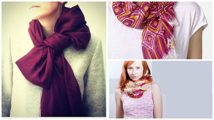 easy ways to tie the scarf