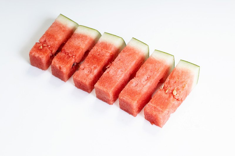 Watermelon sticks in line