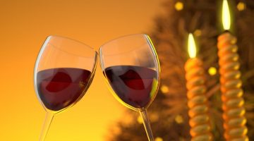 wine and candles romantic anniversary celebration