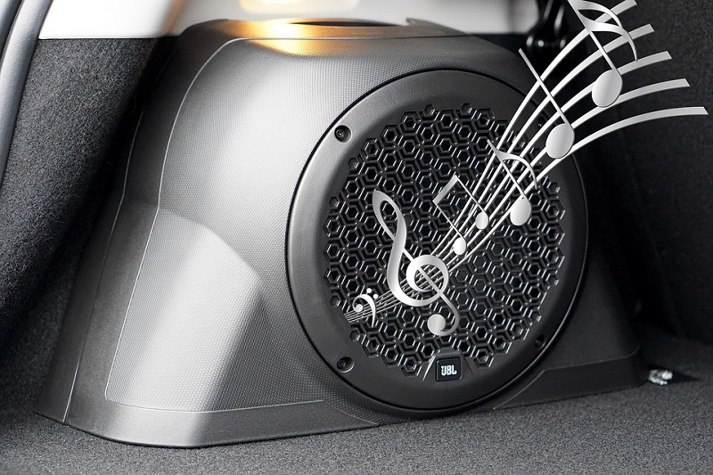 car stereo speaker sound noise musical notes